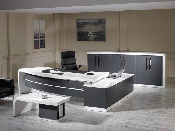 Zirve Beyaz Modern Ofis Takımı